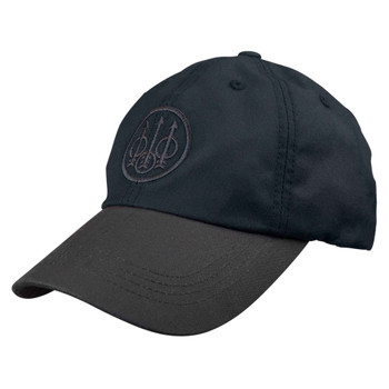 BERETTA Waxed Cotton Black/Brown Hat (BC09202533093B)