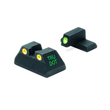 MEPROLIGHT Tru-Dot H&K USP Tritium Fiber Optic Green,Yellow Front & Rear Iron Sight (ML11516Y)