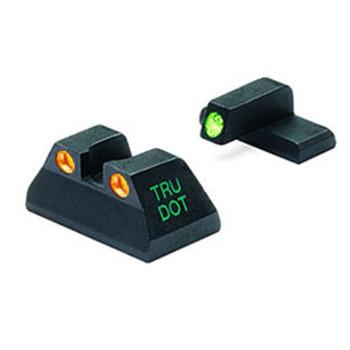 MEPROLIGHT Tru-Dot H&K USP Compact Tritium Fiber Optic Green,Orange Front & Rear Iron Sight (ML11517O)
