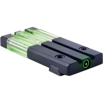 MAKO/MEPROLIGHT Fiber-Tritium Circle-Dot Green Rear Sight For Glock (ML63101)