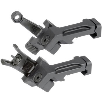 MIDWEST INDUSTRIES 45 Degree AR-15 Combat Rifle Offset Front & Rear Sight Set (MI-CRS-OSS)