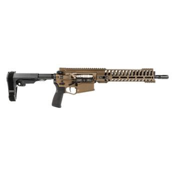 PATRIOT ORDNANCE FACTORY Revolution .308 12.5in Barrel 11.5in Rail Cerakote Burnt Bronze Piston Long Pistol (01584)