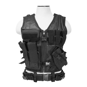 NCSTAR Vism Black Tactical Vest (CTV2916B)