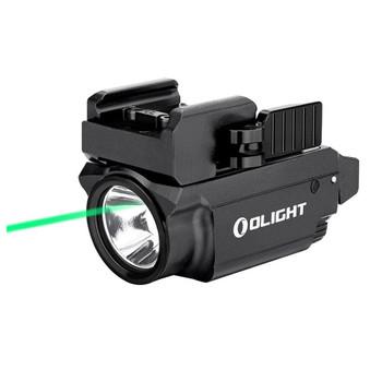 OLIGHT Baldr Mini 600 Lumen Black Pistol Flashlight with Green Laser Sight (FL-OL-BALDRMINI-BK)