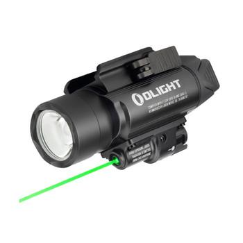 OLIGHT Baldr Pro 1350 Lumen Black Pistol Flashlight with Green Laser Sight (FL-OL-BALDRPRO-BK)