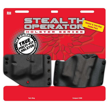 PHALANX DEFENSE SYSTEMS Compact & Twin Mag Black Stealth Operator Holster (H60226C)