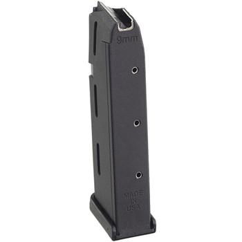 PROMAG 9mm 10rd Black Polymer Magazine Fits Glock 17/19/26 (GLK 14)