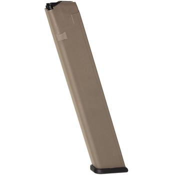 PROMAG 9mm 32rd Flat Dark Earth Polymer Magazine Fits Glock 17/19/26 (GLK-A8B-FDE)