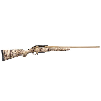 RUGER American 243 Winchester 22in 3rd Go Wild Camo Synthetic Stock Cerakote Bronze Bolt-Action Rifle (26924)
