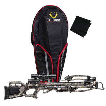 TENPOINT Titan M1 TrueTimber Viper Crossbow Package with ACUdraw/Pro-View Scope and Soft Case/Microfiber Cleaning Cloth (TITM1ACU+BLAZSCASE+GRITMF)