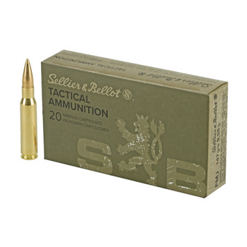 SELLIER AND BELLOT 7.62x51 147Gr FMJ 20/BX Rifle Ammo (SNBSB762A)