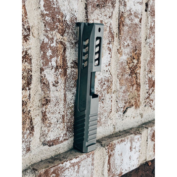 TRUE PRECISION Black DLC Slide with RMS Cut for Glock 43 (TP-G43S-BC-RMS)