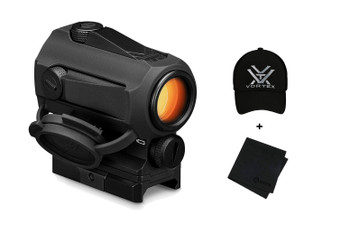 VORTEX SPARC Red Dot 2 MOA Sight with Black Logo Cap and Microfiber Cleaning Cloth (SPC-AR2+220-33-BLKX+MF)