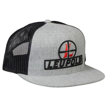 LEUPOLD Reticle Heather Black Flat Brim Trucker Hat (170584)