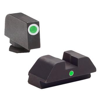 AMERIGLO i-Dot GreenTritium Sight Set For Glock 42/43 Models (GL-105)