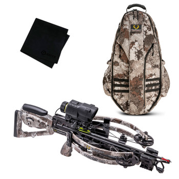 TENPOINT Havoc RS440 XERO Veil Alpine Crossbow Package with Halo Veil Alpine Bowpack and Microfiber Cleaning Cloth (TENP-CB21008-6279-HCA-20120-GRITMF)