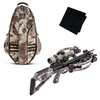 TENPOINT Havoc RS440 Veil Alpine Crossbow Package with Halo Veil Alpine Bowpack and Microfiber Cleaning Cloth (TENP-CB21008-6289-HCA-20120-GRITMF)