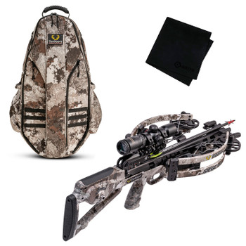 TENPOINT Siege RS410 Veil Alpine Crossbow Package with Halo Veil Alpine Bowpack and Microfiber Cleaning Cloth (TENP-CB21012-6819-HCA-20120-GRITMF)