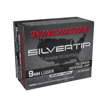 WINCHESTER AMMO Silvertip For 9mm Luger 115Gr Hollow Point 20 Bx/10 Cs Handgun Ammo (W9MMST)