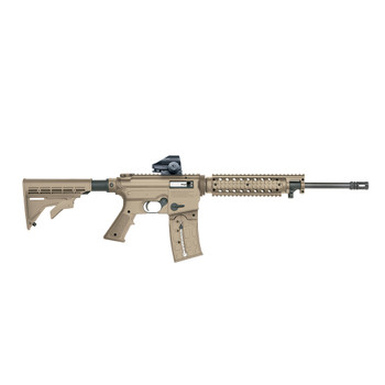 MOSSBERG 715T Flat Top .22LR 16.25in 25rd Tan Semi-Automatic Rifle with Green Dot Sight (37240)