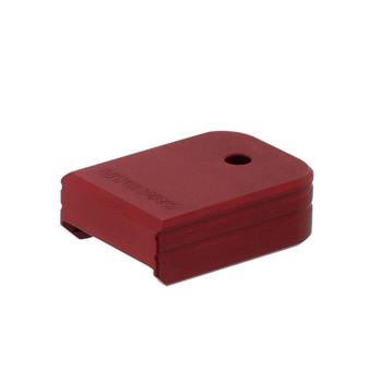 UTG PRO +0 Matte Red Aluminum Base Pad for Glock Small Frame (PUBGL01R)