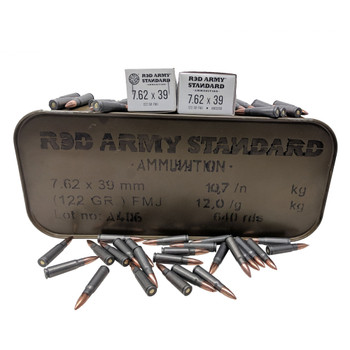 RED ARMY STANDARD 7.62x39mm 122Gr FMJ 20rd Box/640rd Tin Rifle Ammo (AM3266)