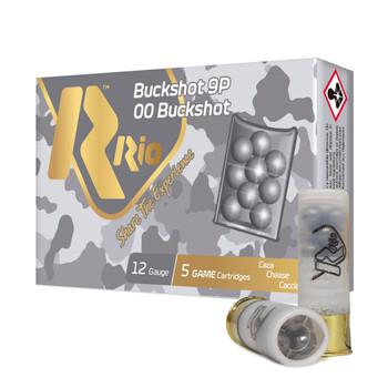 RIO AMMUNITION Royal Buck 12 Gauge 2.75in 9 Pellets 00 Buckshot Ammo (RB129)