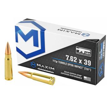 MAXIM DEFENSE 7.62x39mm 117Gr TUI SCS 20rd Box Rifle Ammo (MXM-49003)