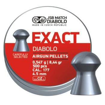 PREDATOR INTERNATIONAL Diabolo Exact 177 Caliber 8.44 Grain 500Ct Airgun Pellets (546239-500)