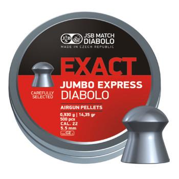 PREDATOR INTERNATIONAL Exact Jumbo Express 22 Caliber 14.35 Grain 500Ct Airgun Pellets (546277-500)