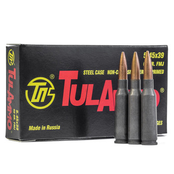 TULAMMO 5.45x39mm 60gr FMJ 20 Bx/50 Cs Rifle Ammo (TA545390)
