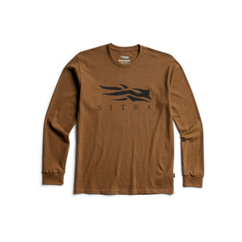 SITKA Icon Long Sleeve Tee Mud Shirt (20312-MD)