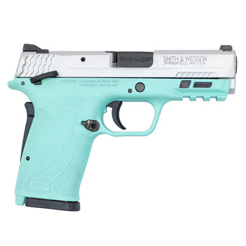 SMITH & WESSON M&P9 Shield EZ 9mm 3.67in 8rd Robins Egg Blue/Silver Pistol (13317)