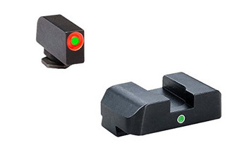 AMERIGLO For Glock Tritium I-Dot Green with Orange Outline Front and Green Rear Sights (GL-201)