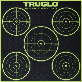 TRUGLO Tru See 6 Pack of 5-Bullseye 12X12 Splatter Targets (TG11A6)