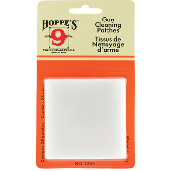 HOPPE'S 25-Pack 12 and 16 Gauge Gun Cleaning Patches (1205)