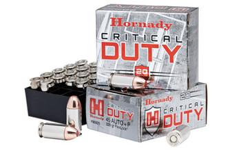 HORNADY Critical Duty 45 ACP +P 220 Grain FlexLock Ammo, 20 Round Box (90926)