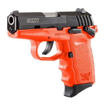 SCCY CPX-1 9mm 3.1in 10rd Black Nitride/Orange Semi-Automatic Pistol (CPX-1-CBOR)