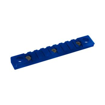 TIMBER CREEK OUTDOORS 9 Slot Quick Disconnect Picatinny Keymod Blue Rail (K-9S-QD-PR-B)