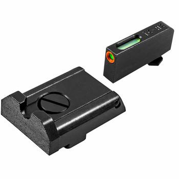 TRUGLO TFX Pro Adjustable Pro Orn Tritium/Fiber Optic Day/Night Sight Set for Glock(TG13GLAPC)