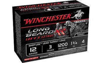 WINCHESTER Long Beard XR Shot-Lok 12Ga 3in #4 Shotshell Ammo 10 Round Box (STLB1234)