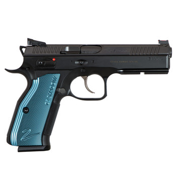 Sale of this item is restricted to First Responders only - CZ Shadow 2 9mm 4.9in Barrel 17Rd Black/Blue Pistol (91257)