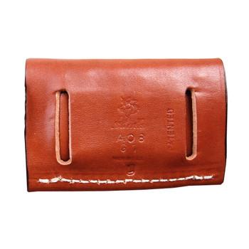 DESANTIS GUNHIDE 2 x 2 x 2 Tan Leather Cartridge Pouch (A08TJG1Z0)
