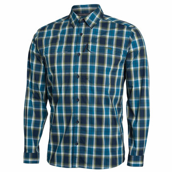 SITKA Mens Globetrotter Shirt LS Pond Plaid Shirt (80031-PP)