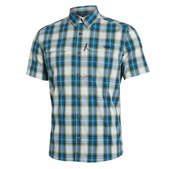 SITKA Mens Globetrotter Shirt SS Fog Plaid Shirt (80032-FP)