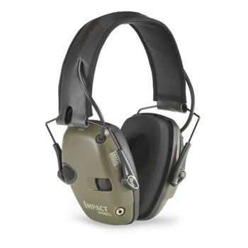 HOWARD LEIGHT Impact Sport Earmuff Electronic Folding Green Hearing Protection (1526)