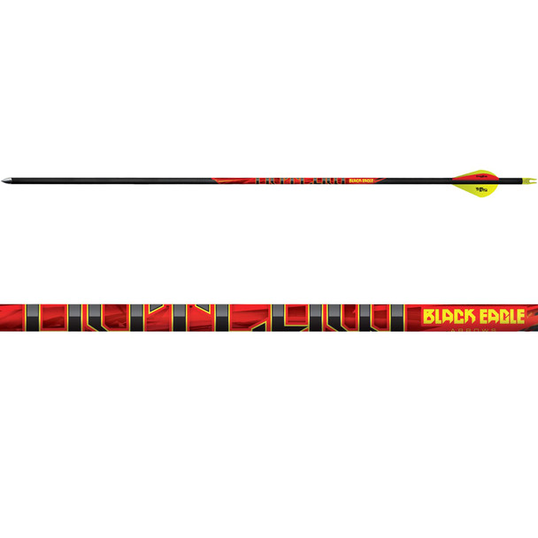 BLACK EAGLE Outlaw 350 Grain .005in Fletched Arrow (Outl-Fletched-0042-Single)