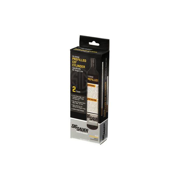 SIG SAUER Prefilled C02 90 Gram Cylinder 2-Pack (AC-90-2)