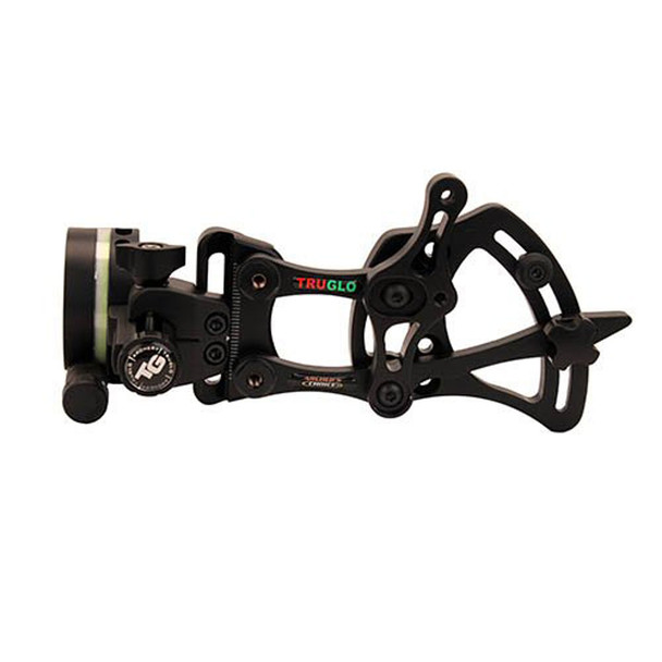 TRUGLO Archers Choice Range Rover 0.019 1 Pin Left Hand Black Zero-In Adjustment Dial Bow Sight with Rheostat Light (TG6311BLH)