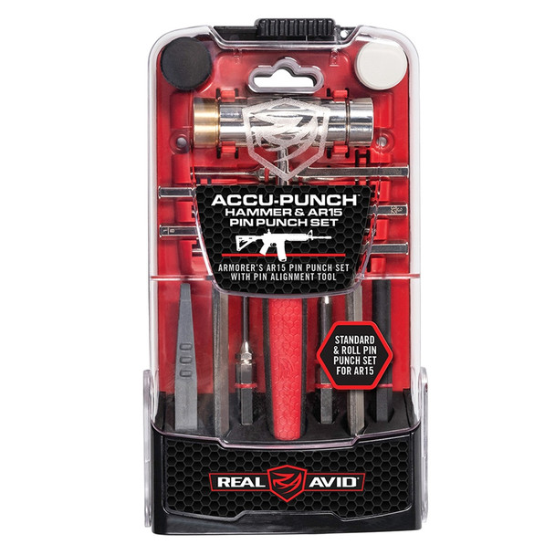 REAL AVID Accu-Punch Hammer and AR-15 Pin Punch Set (AVHPS-AR)